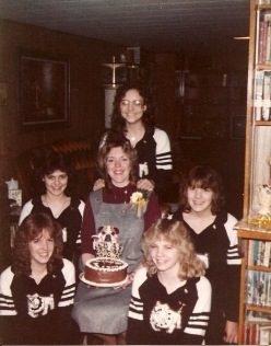 1984 baby shower with my Cheerleaders!